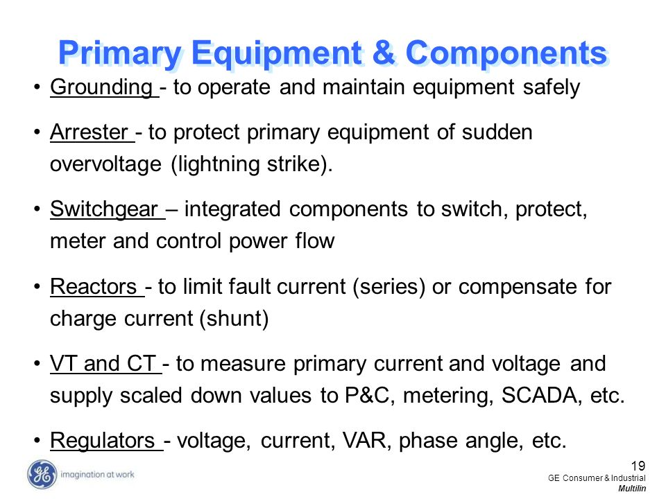 Primary Equipment & Components