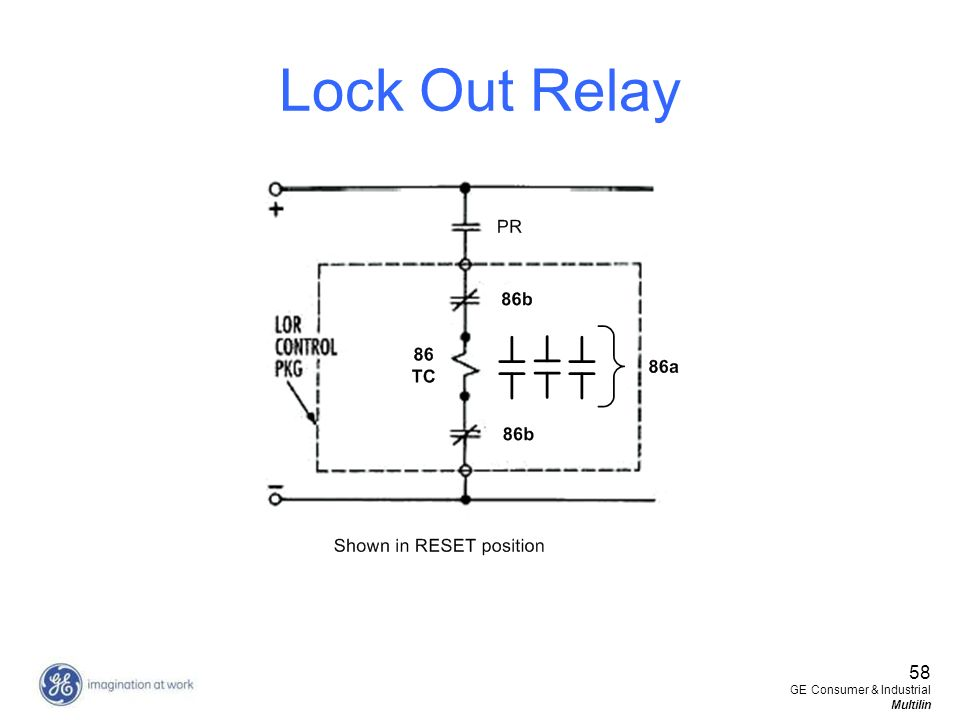 Lock Out Relay 58 GE Consumer & Industrial Multilin