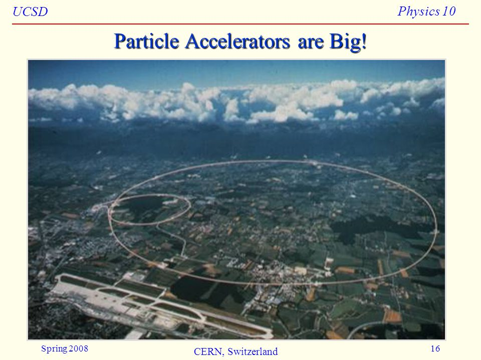 Particle Accelerators are Big!