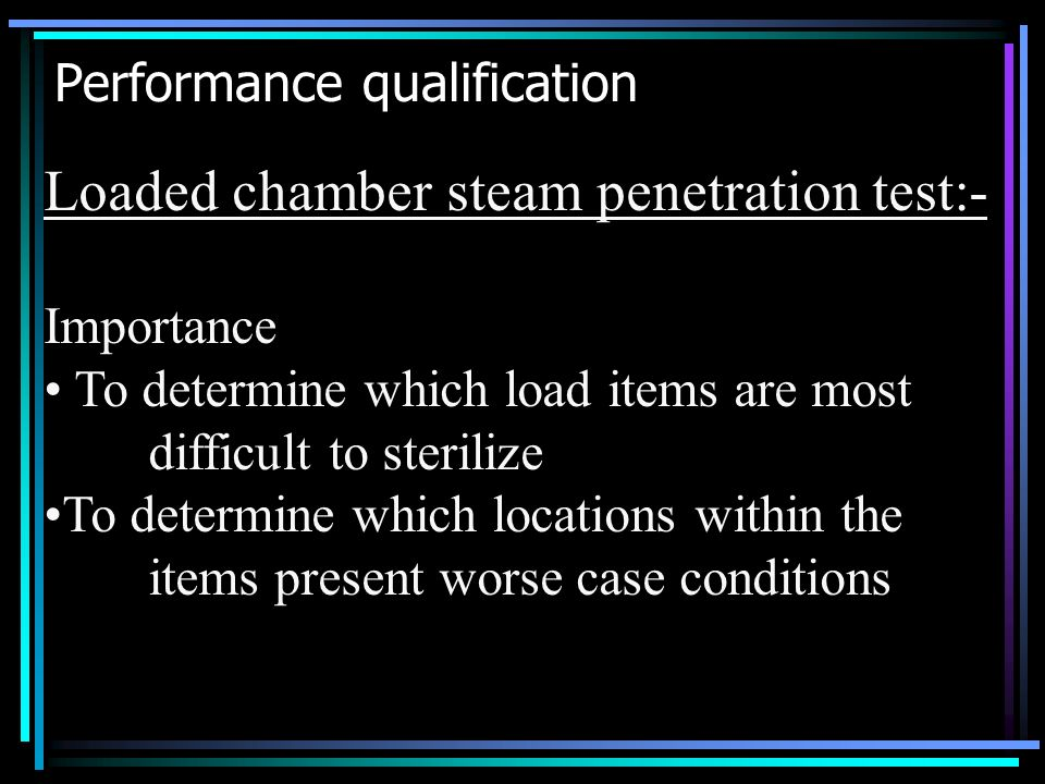 Performance qualification
