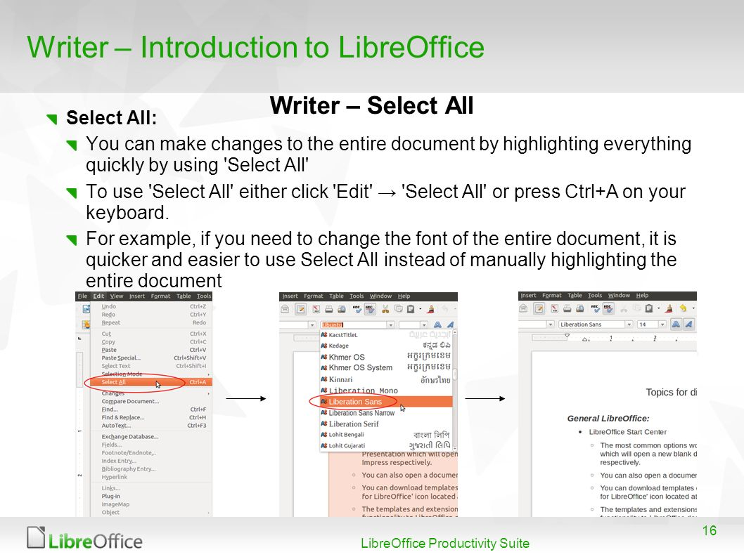 Introduction to LibreOffice Jordan Catholic School - ppt
