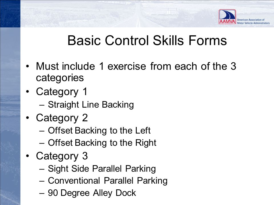 Basic Control Skills Forms