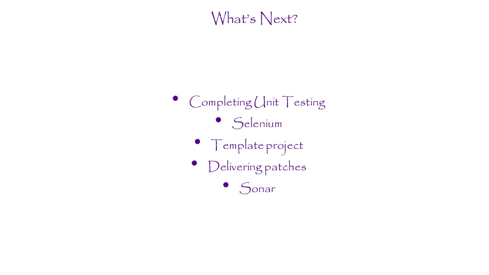Completing Unit Testing