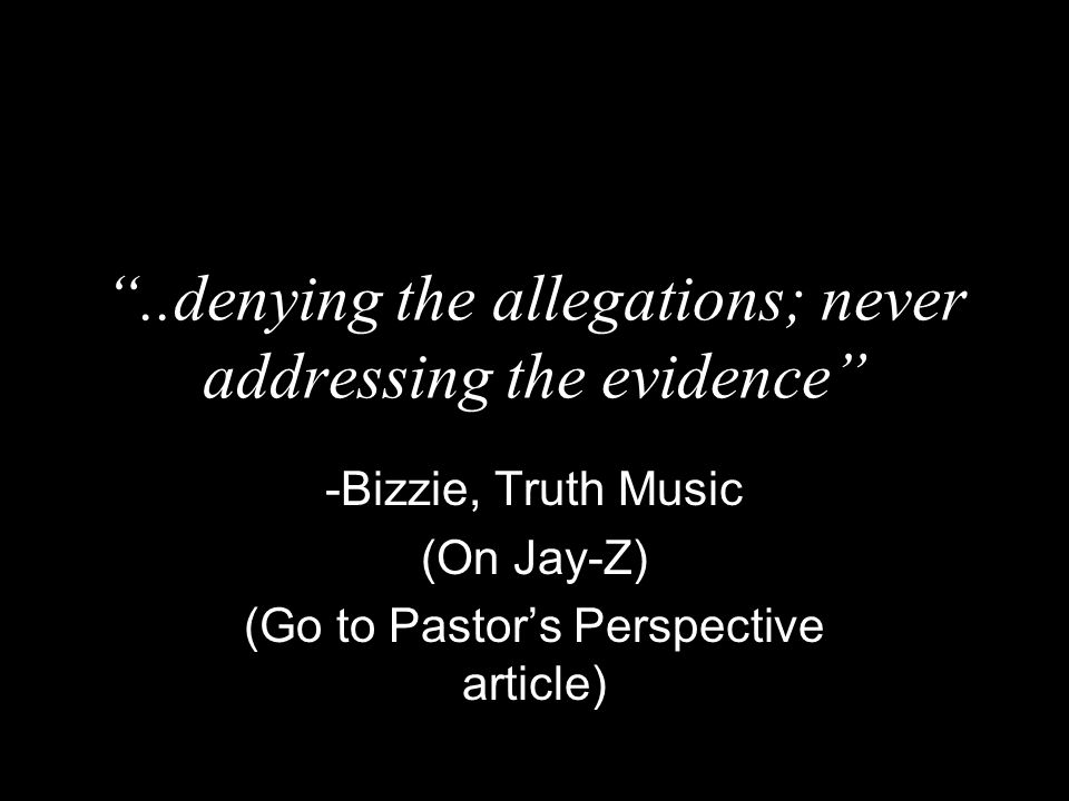 ..denying the allegations; never addressing the evidence
