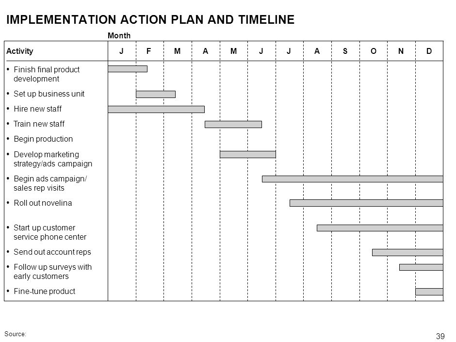 IMPLEMENTATION ACTION PLAN AND TIMELINE