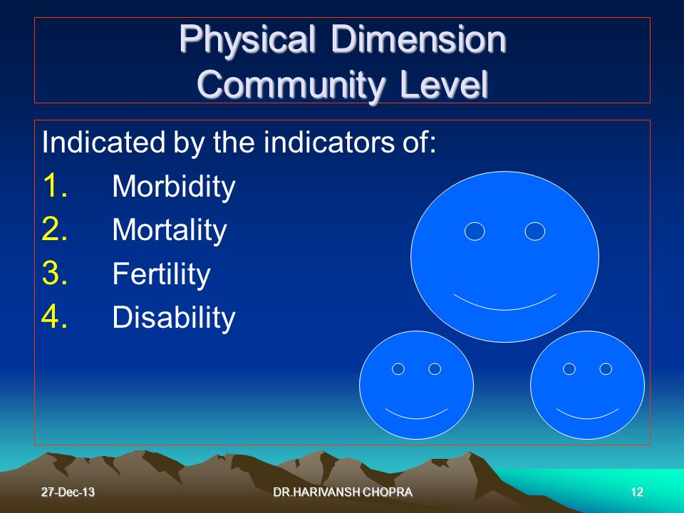 Physical Dimension Community Level