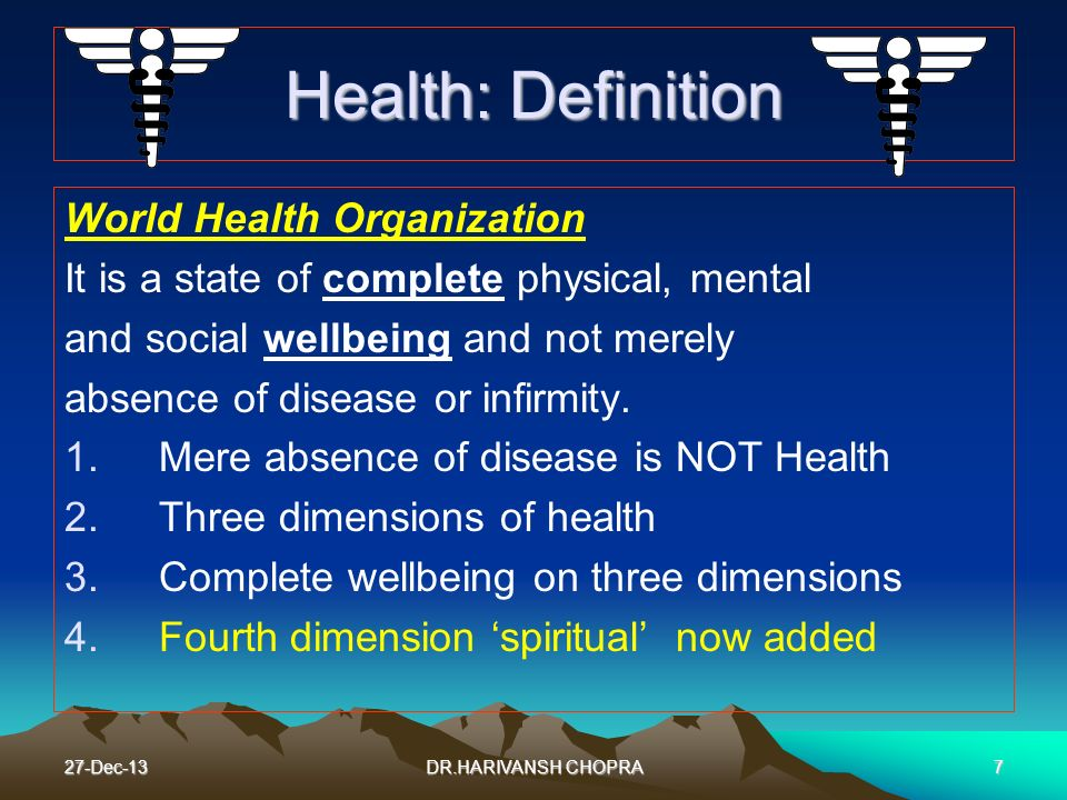Health: Definition World Health Organization
