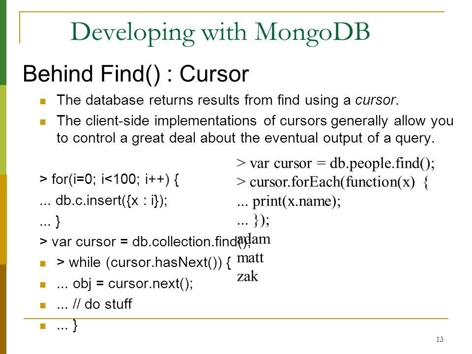 Mongo DB MongoDB (from