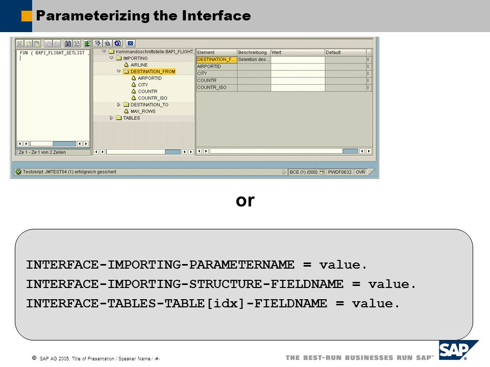 Parameterizing the Interface