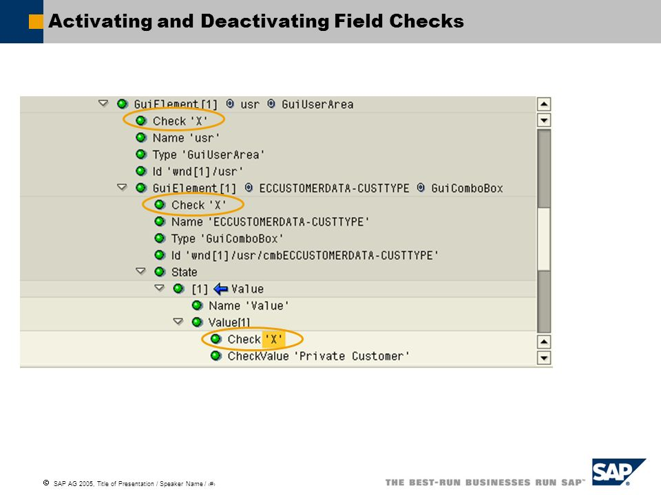 Activating and Deactivating Field Checks
