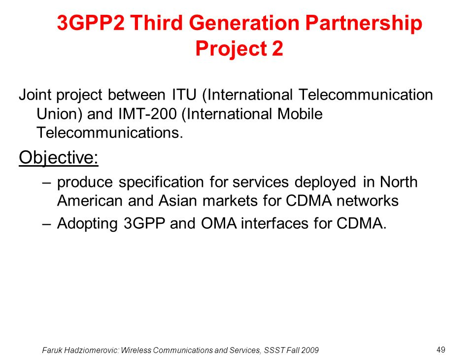3GPP2 Third Generation Partnership Project 2