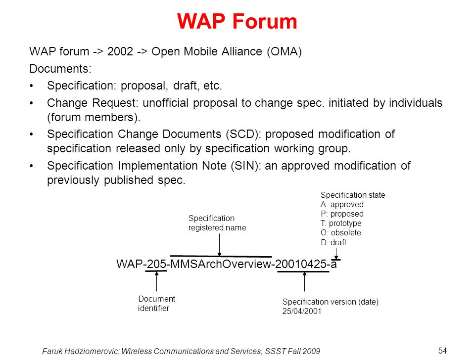 WAP Forum WAP forum -> > Open Mobile Alliance (OMA)
