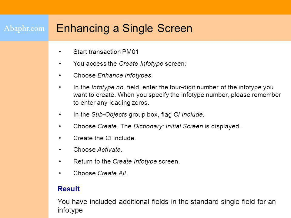 Enhancing a Single Screen