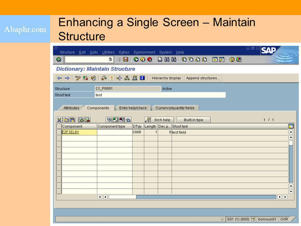 Enhancing a Single Screen – Maintain Structure