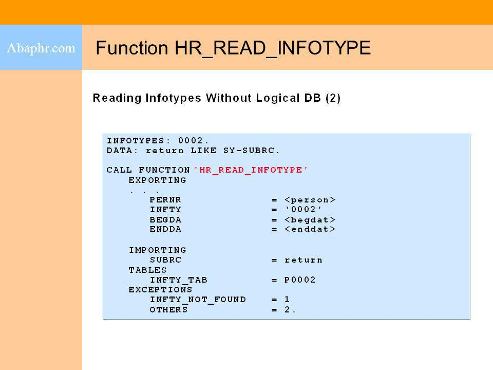 Function HR_READ_INFOTYPE