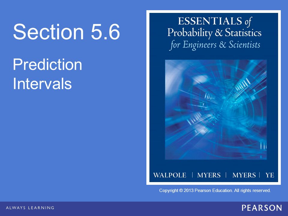 Section 5.6 Prediction Intervals