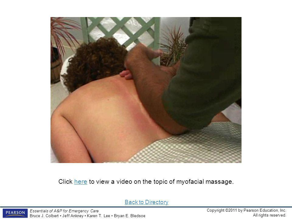 Click here to view a video on the topic of myofacial massage.