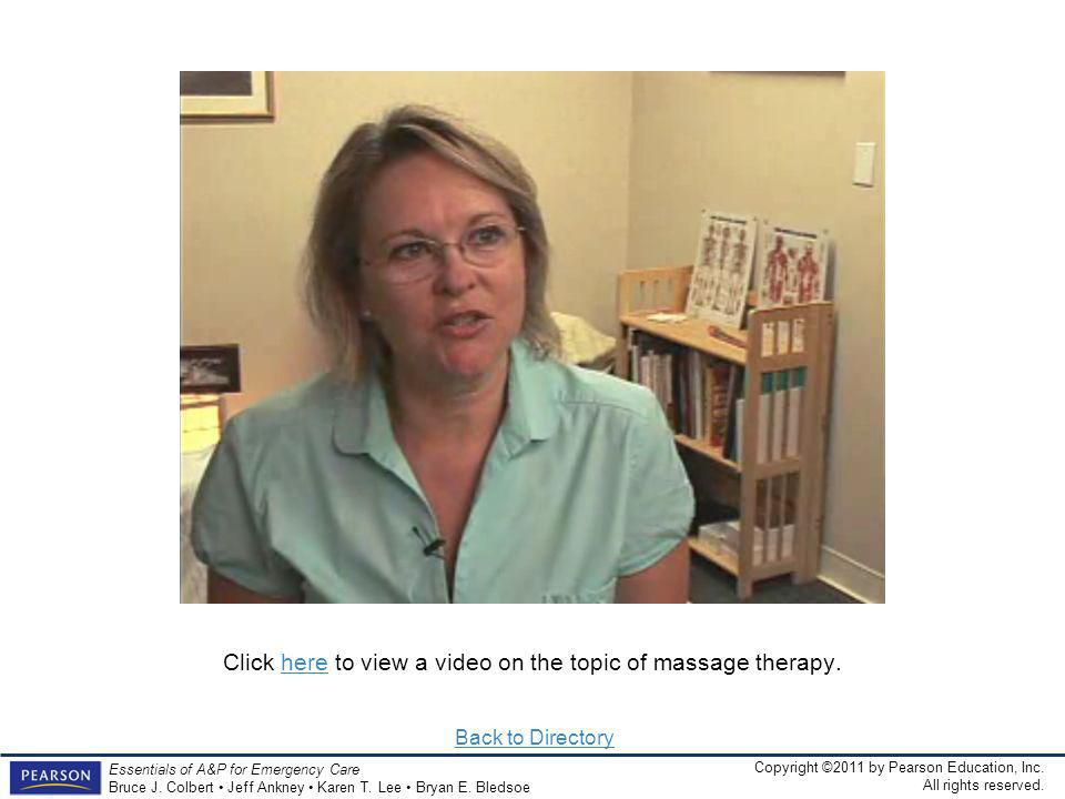 Click here to view a video on the topic of massage therapy.
