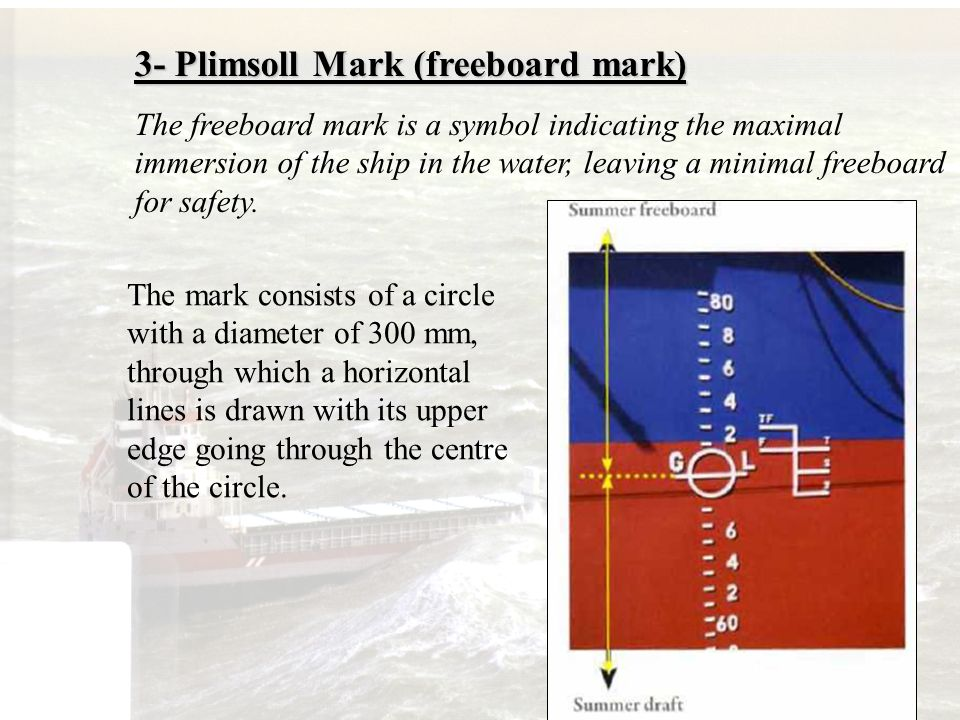 3- Plimsoll Mark (freeboard mark)