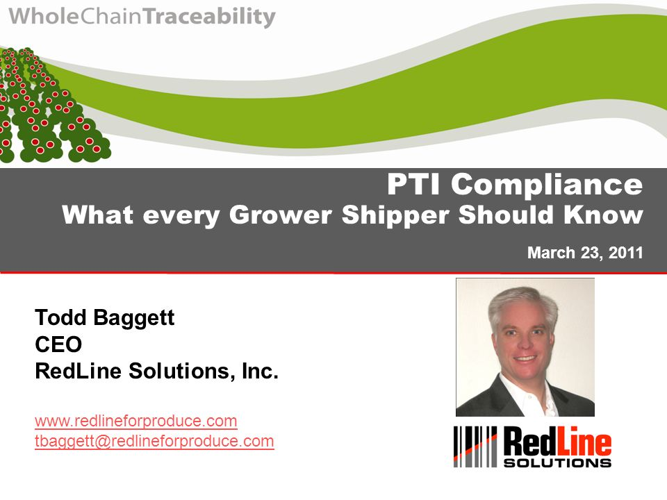 PTI Compliance What every Grower Shipper Should Know