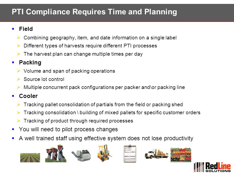 PTI Compliance Requires Time and Planning