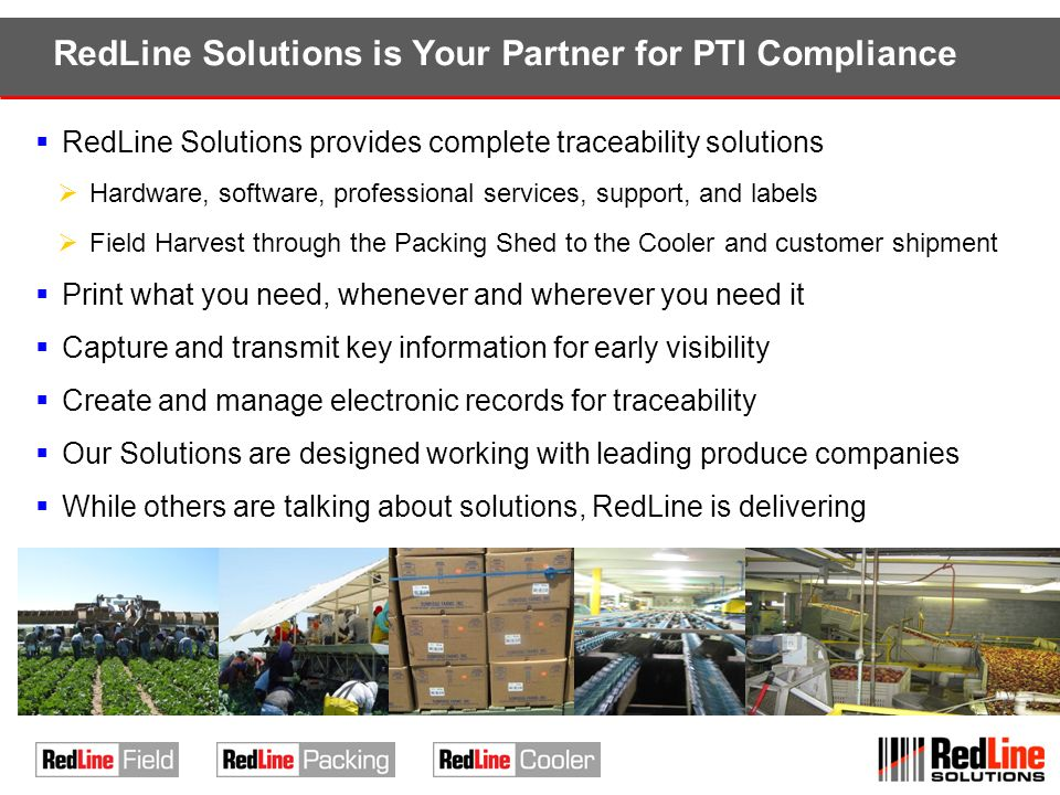 RedLine Solutions is Your Partner for PTI Compliance