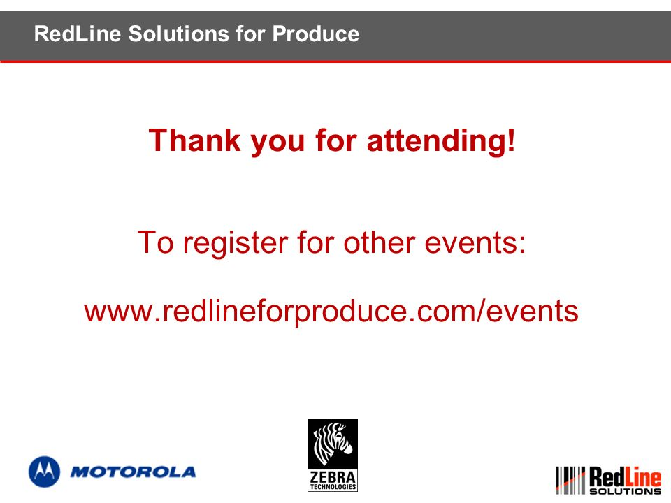 RedLine Solutions for Produce