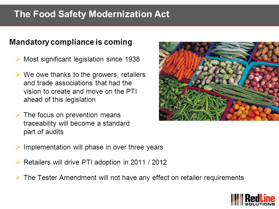 The Food Safety Modernization Act
