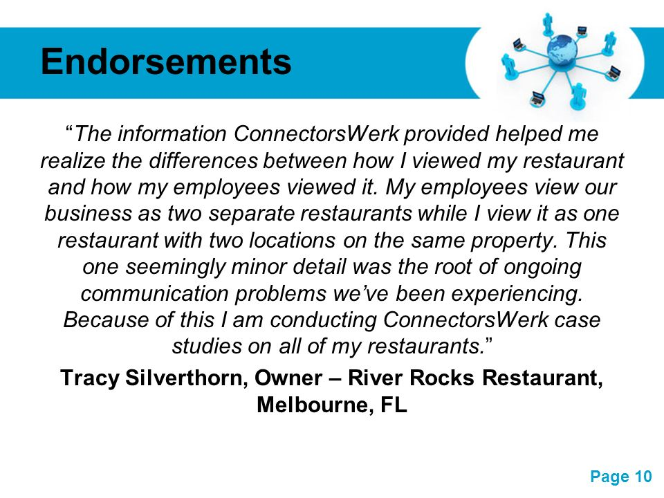 Tracy Silverthorn, Owner – River Rocks Restaurant, Melbourne, FL