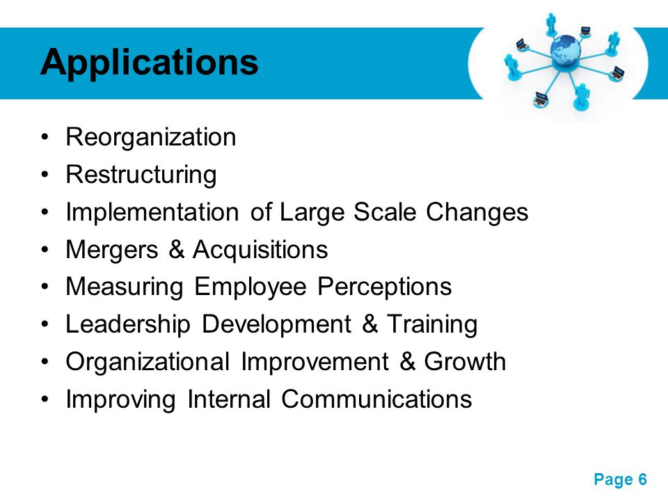Applications Reorganization Restructuring
