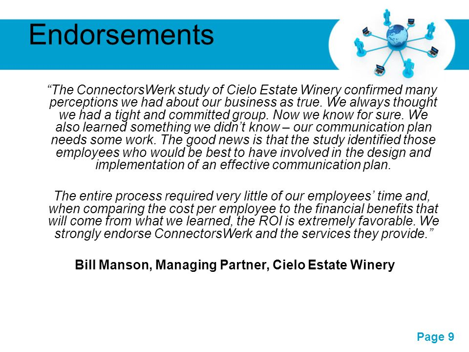 Bill Manson, Managing Partner, Cielo Estate Winery