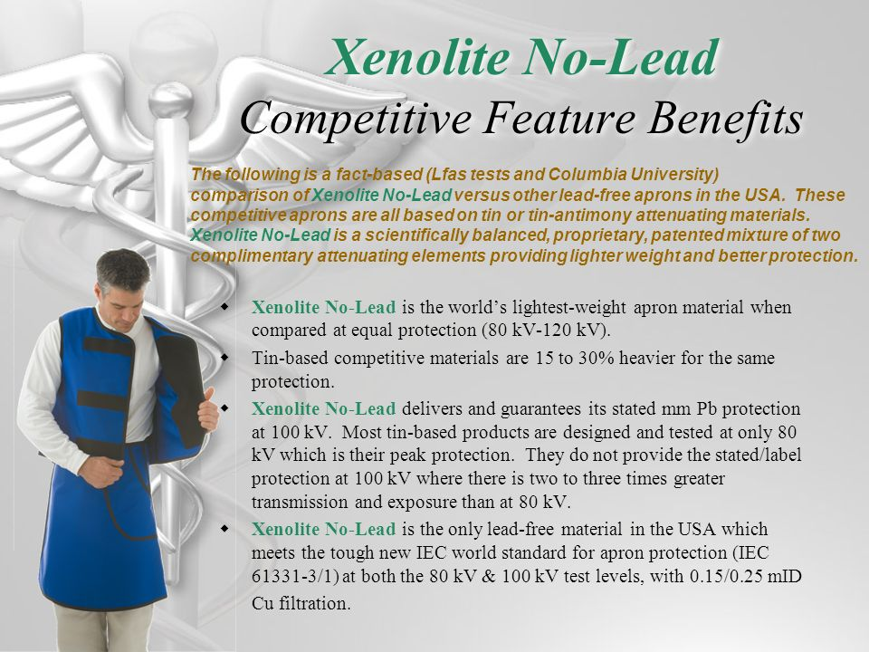 Xenolite No-Lead Competitive Feature Benefits