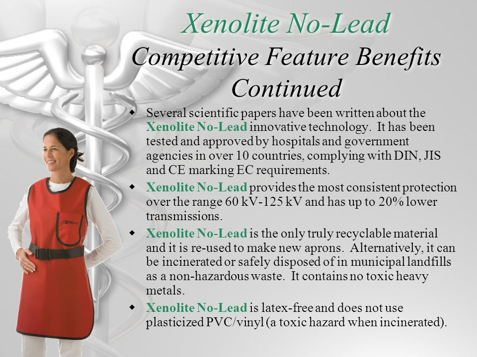 Xenolite No-Lead Competitive Feature Benefits Continued