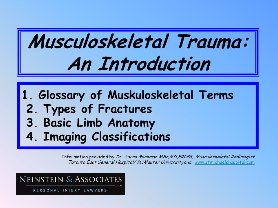 Musculoskeletal Trauma: An Introduction
