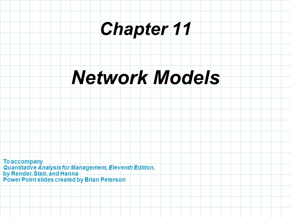 Network Models Chapter 11