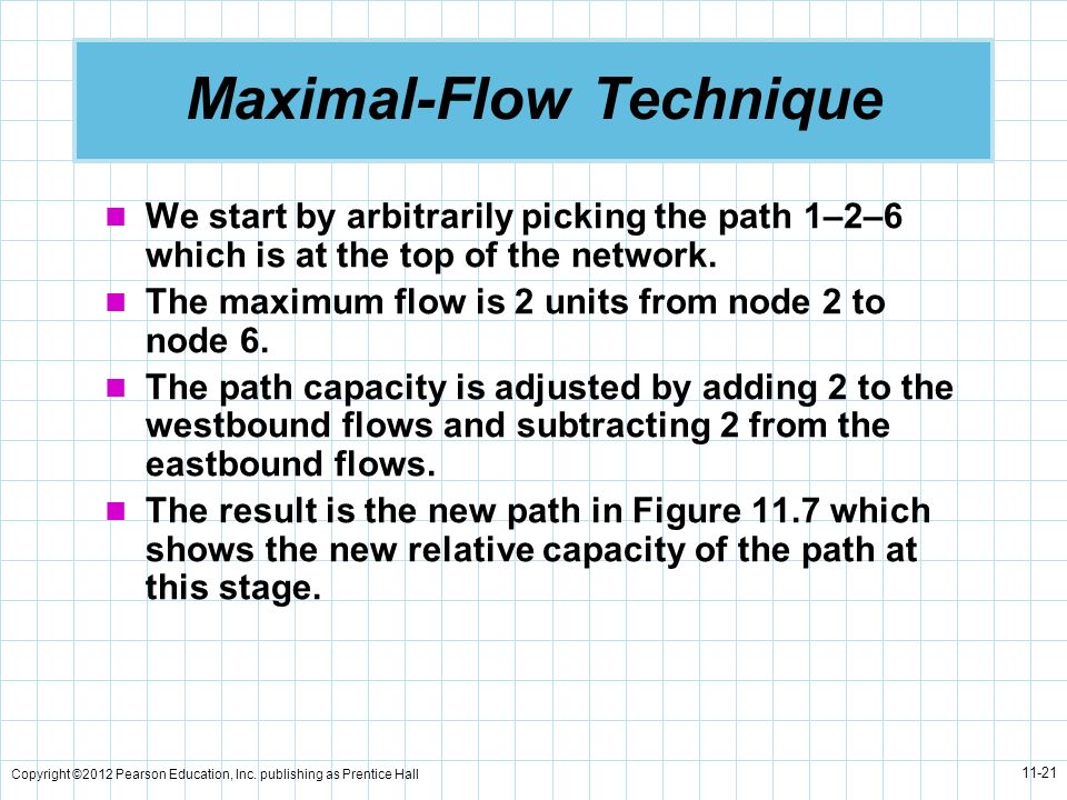 Maximal-Flow Technique