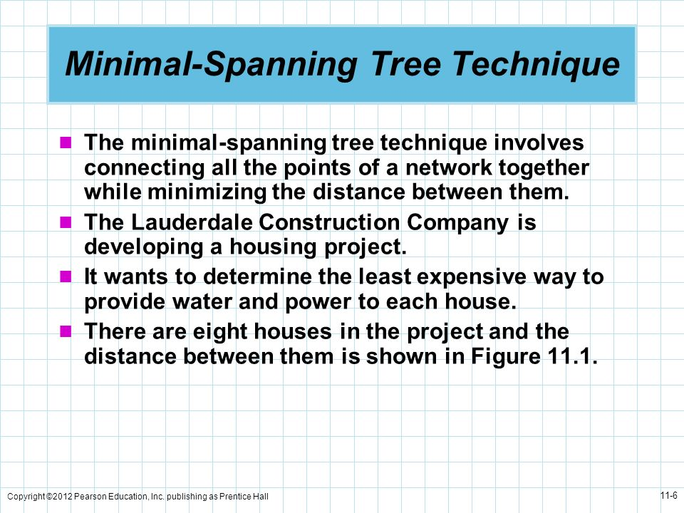 Minimal-Spanning Tree Technique