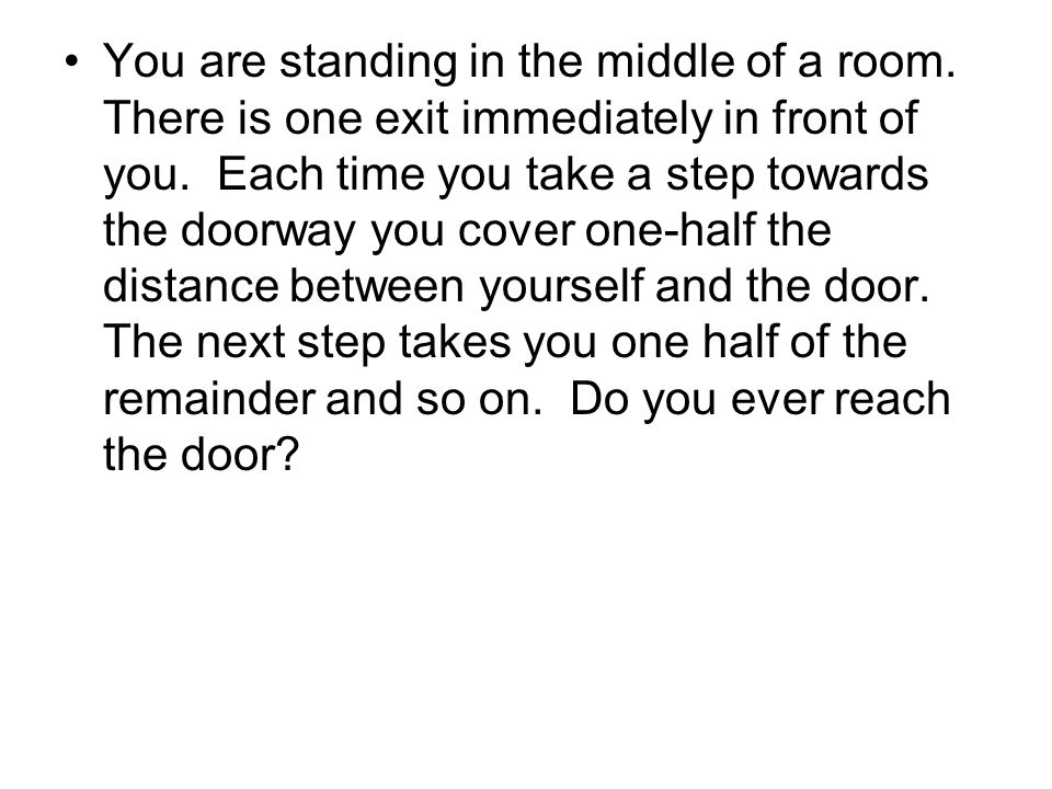 You are standing in the middle of a room
