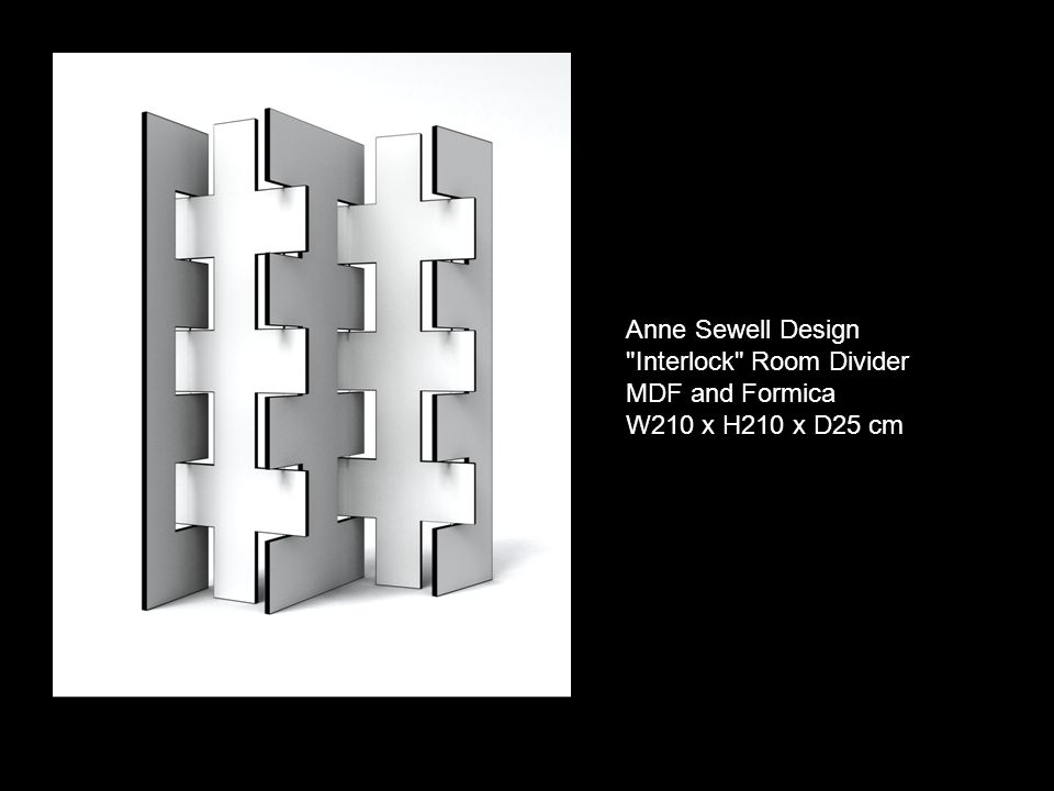 Anne Sewell Design Interlock Room Divider MDF and Formica W210 x H210 x D25 cm