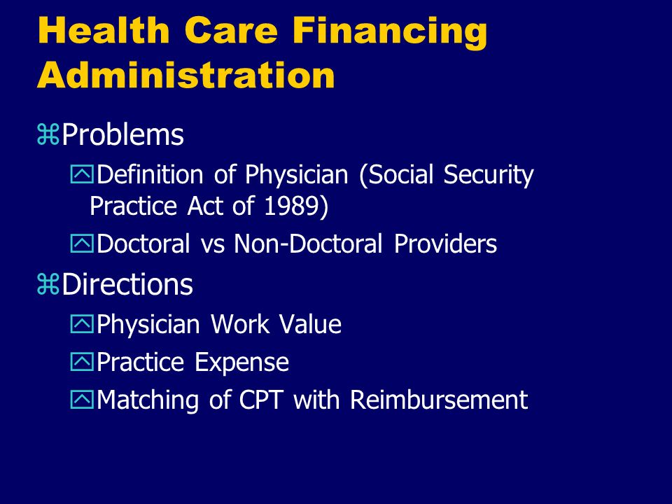 Health Care Financing Administration