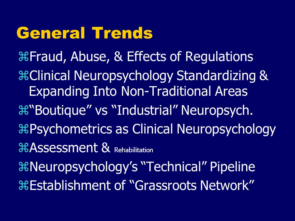 General Trends Fraud, Abuse, & Effects of Regulations
