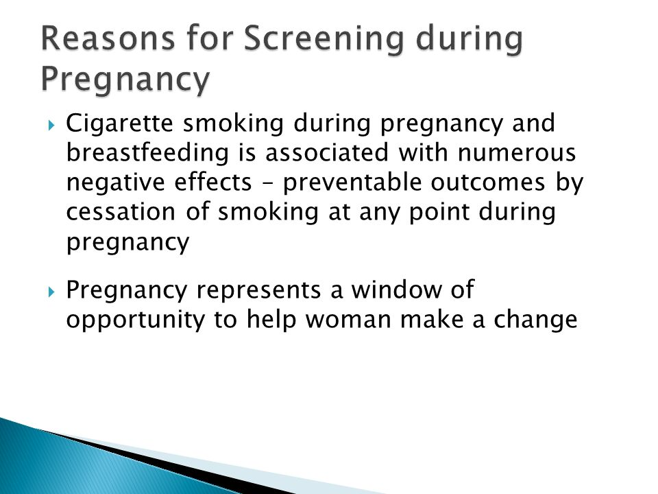 Reasons for Screening during Pregnancy