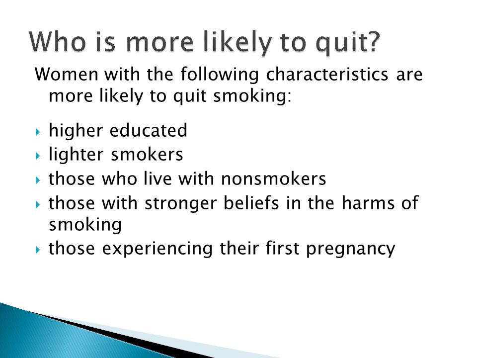 Who is more likely to quit