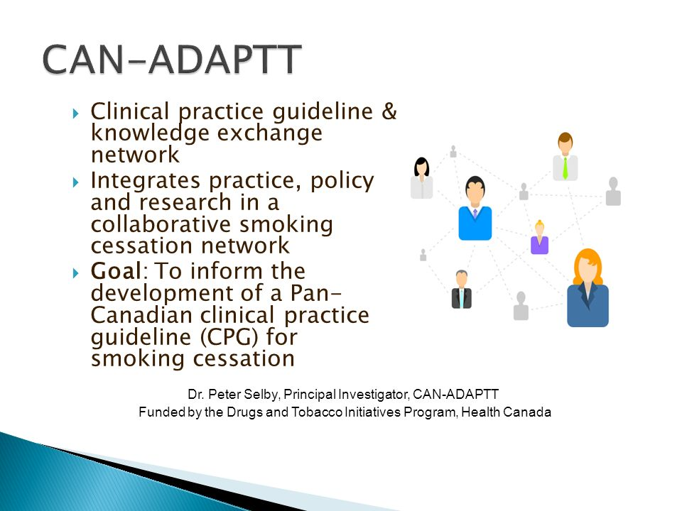 CAN-ADAPTT Clinical practice guideline & knowledge exchange network