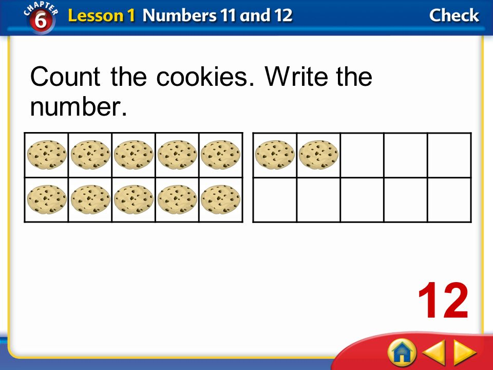 Count the cookies. Write the number.