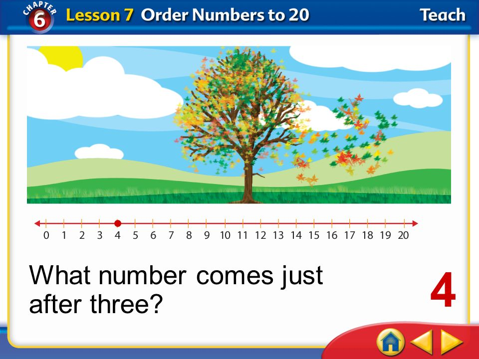What number comes just after three