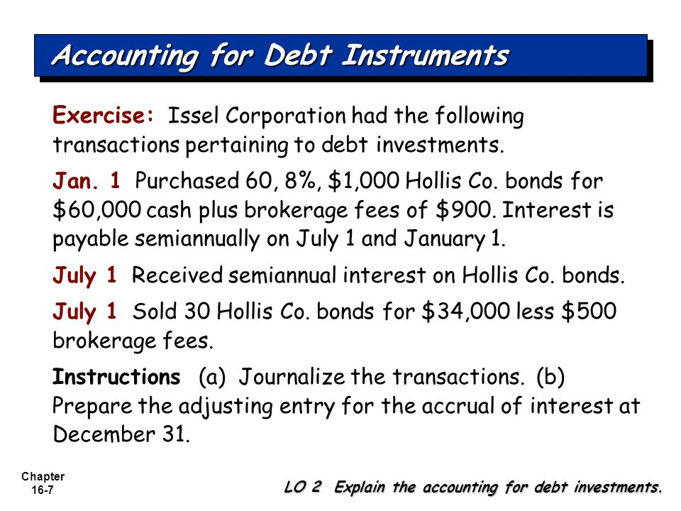 Accounting for Debt Instruments