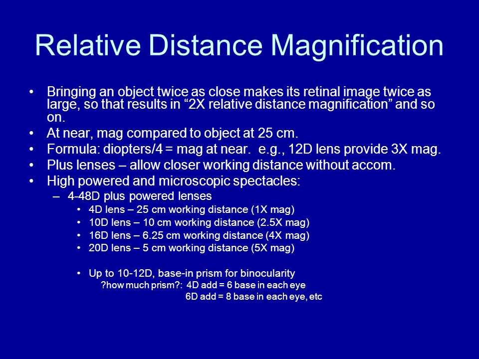 Relative Distance Magnification