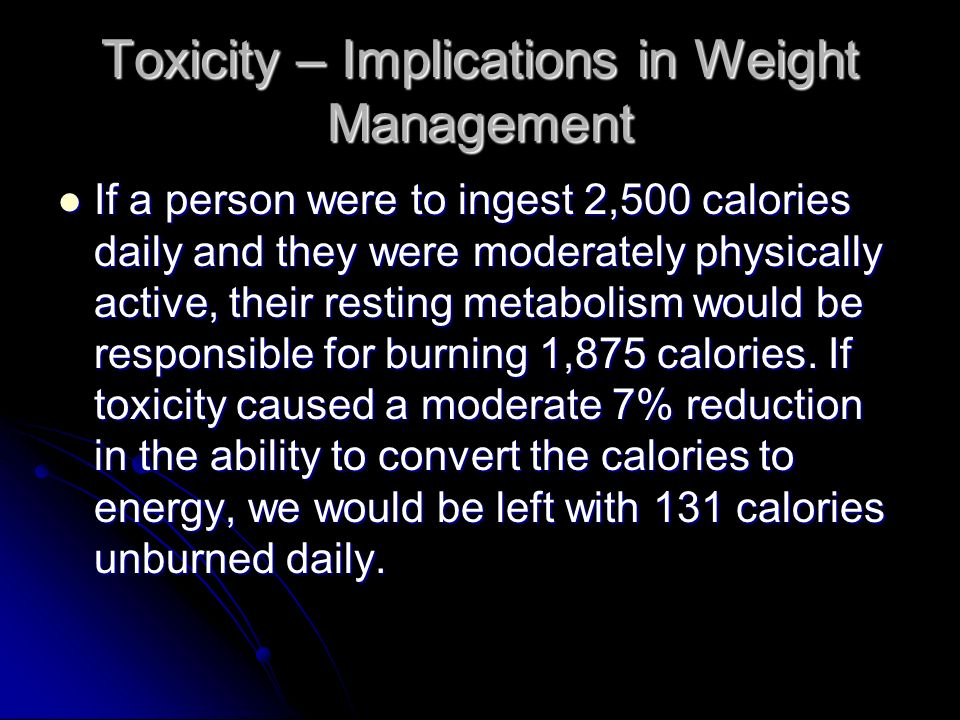 Toxicity – Implications in Weight Management