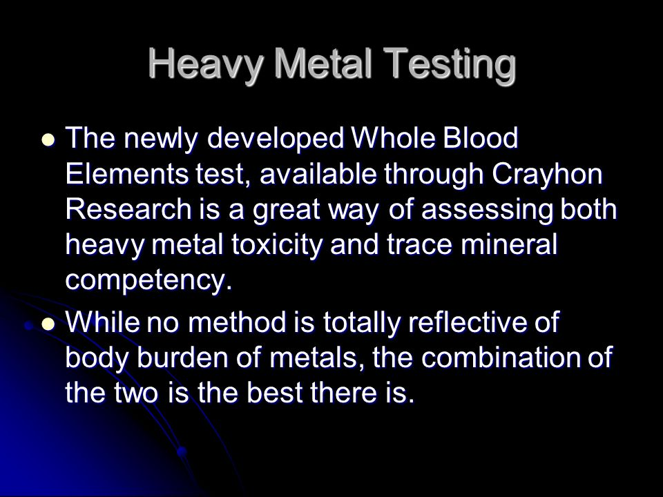 Heavy Metal Testing